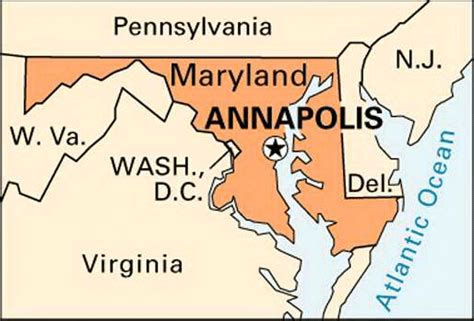 maryland map annapolis annapolis encyclopedia children s homework help