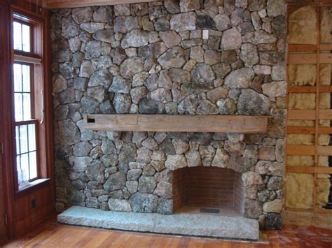 Fieldstone Fireplace Iron Hammer Stoneworks Llc