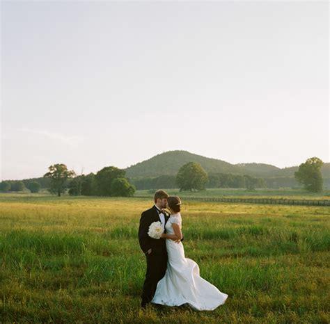 southern wedding field portrait