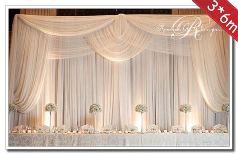 3 6m wedding decoration backdrop with swags wedding