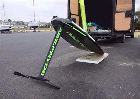 hydrofoil rowing boat neilpryde hydrofoil foil stuff windsurfing sailing