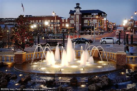 City Lights Weatherford by In Bricktown Oklahoma City Ok Dusk In Bricktown