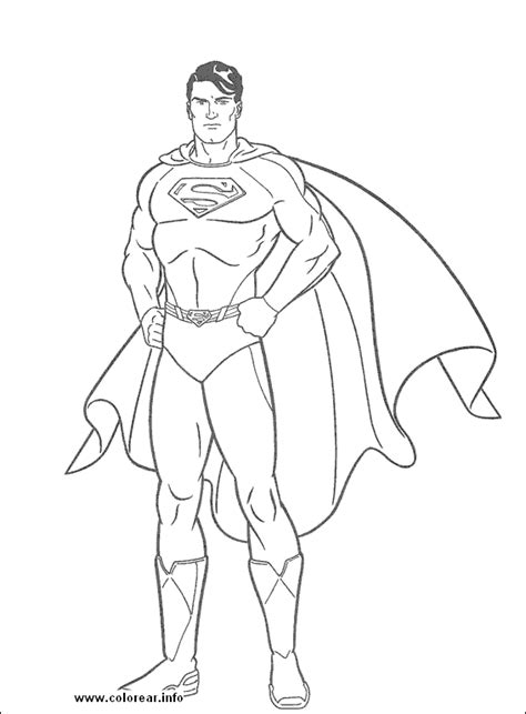 Superman Color Pages free superman coloring pages for children and line drawing