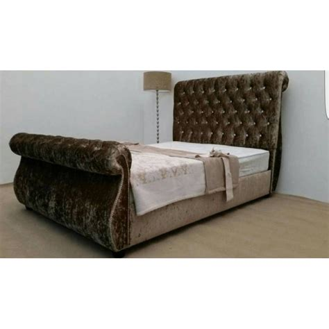 Swan Sleigh Bespoke Bed Frame 10inc Memory Foam Mattress Bespoke Bed Frames