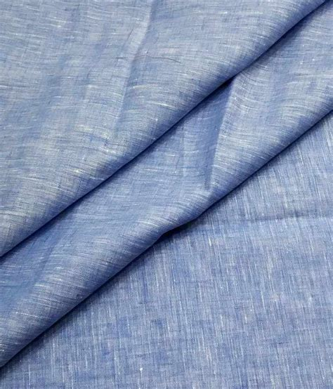 pattern shirt fabric raymond pure linen blue self design shirt fabric buy