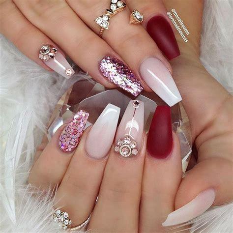 imagenes de uñas rosadas las 25 mejores ideas sobre u 241 as acrilicas rojas en