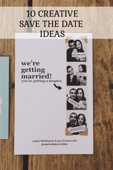10 Date Ideas by 10 Creative Save The Date Ideas You Ll
