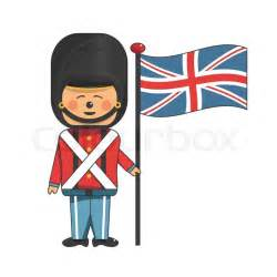 Vintage Home Design Plans happy soldier in red uniform holding the british flag