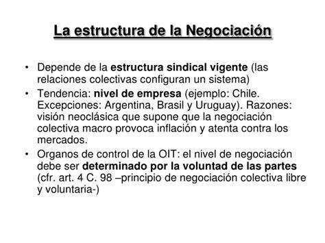 estructura sindical argentina la negociacion colectiva en america latina