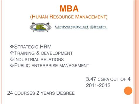 Mba Hr Subjects In Pakistan by Farooque Ahmed Channa Resume