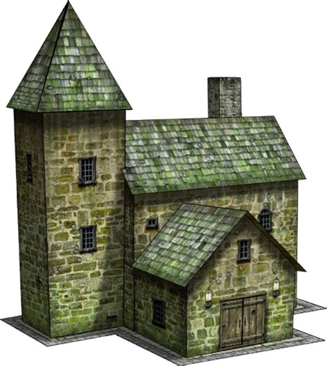 Country Papercraft - country house paper model dave graffam models