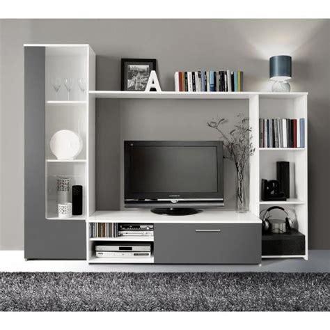 meubles tv finlandek meuble tv mural pilvi 220cm blanc et gris achat vente meuble tv pas cher couleur