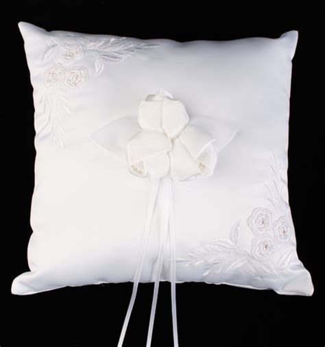 Ringbearer Pillows by White Square Embroidered Ring Bearer Pillow Ringbearer