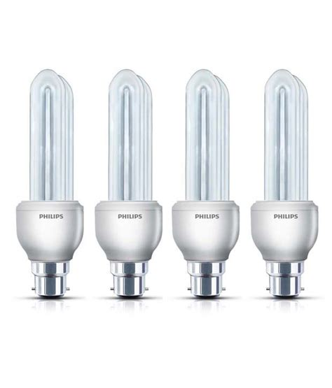 Philips Esential 14 Watt philips cfl pack of 4 essential bulbs 14 w available at