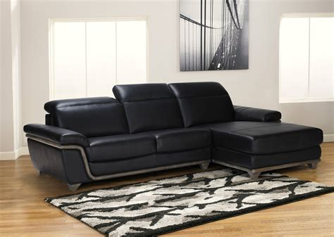 black sectional black bonded leather sectional sofa with ash wood accent