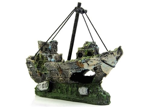 decorations free shipping wreckage of boat aquarium decoration free shipping