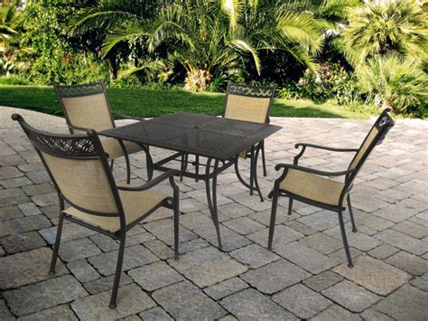 Patio Land by Manhattan 42 Quot Square Dining Table With 4 Manhattan Dining