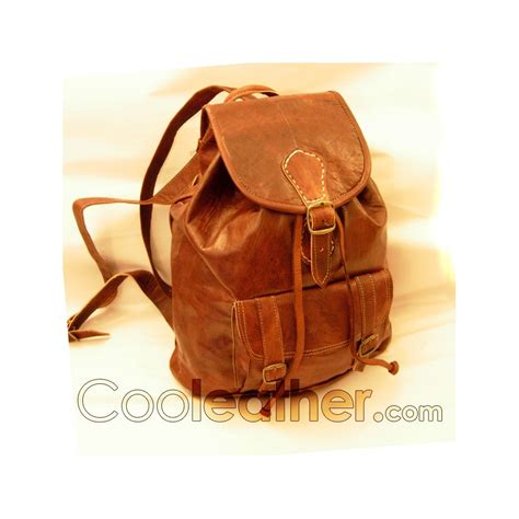 Handcrafted Backpacks - handmade cool leather backpack with one big front pocket