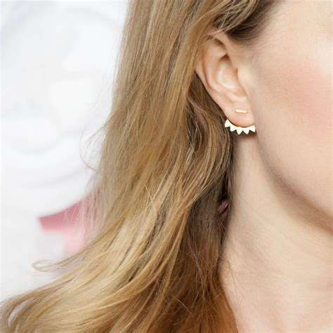 Ear Jackets gold ear jackets ear jacket by luxesocietyjewelry