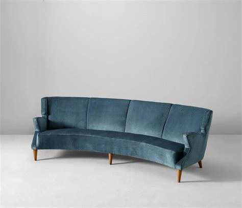 Curved Sofas For Sale Large Italian Four Seat Curved Sofa For Sale At 1stdibs