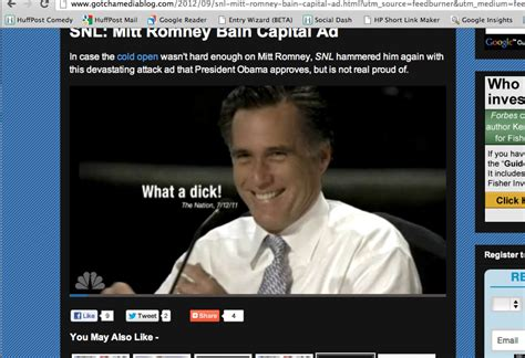 Bain Capital Post Mba by Snl Mocks Mitt Romney With Bain Capital Attack Ad