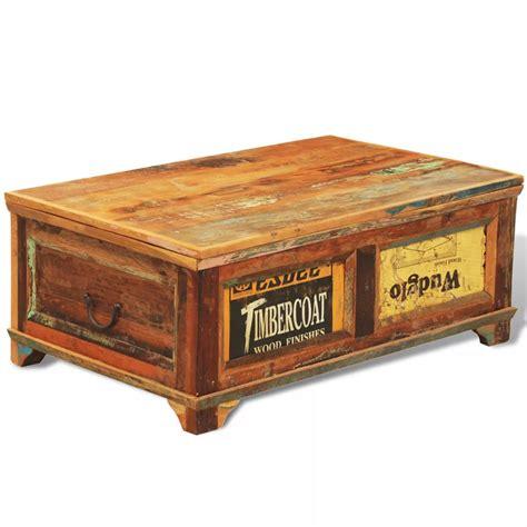 old style wooden desk vidaxl co uk reclaimed wood storage box coffee