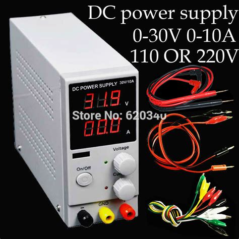 Terbaru Lw K3010d 10a Power Supply Dc Digital Wei 0 30v 0 10a 30v 10a K3010d Mini Switching Regulated Adjustable Dc