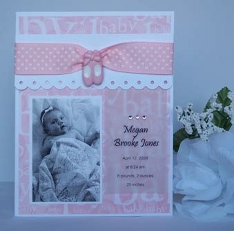 Handmade Baby Announcement Cards - its a baby announcment