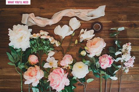 how to make a floral arrangement diy silk flower bouquet with afloral green wedding shoes