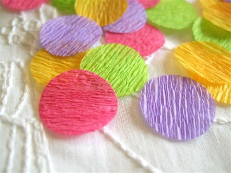 With Crepe Paper - crepe paper confetti swartley