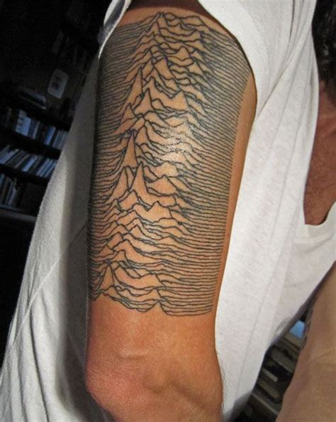 joy division tattoo division unknown pleasures tattoos