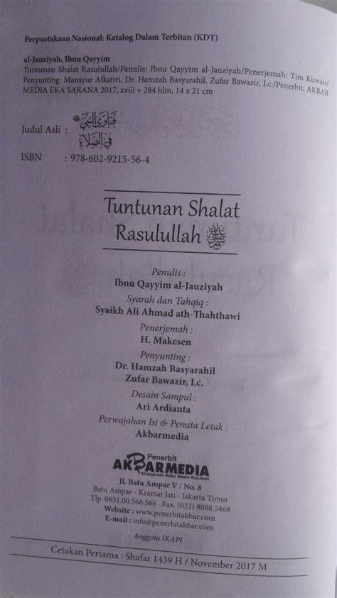 Wanita Wanita Kebanggaan Islam Akbar Media Karmedia buku tuntunan shalat rasulullah