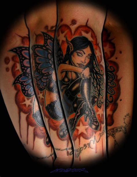 goth fairy tattoo by muddygreen on deviantart