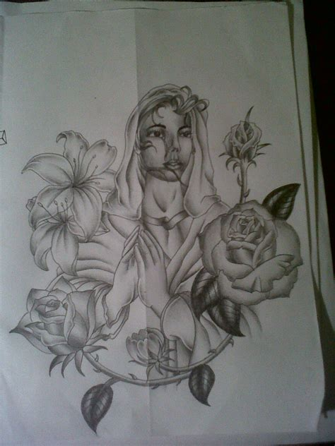 maria tattoo designs design by tattoosuzette on deviantart