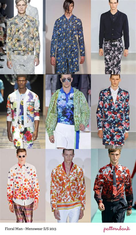 Summer 08 Trends Floral The Catwalk Looks by Menswear Print Trends Summer 2013 Part 2
