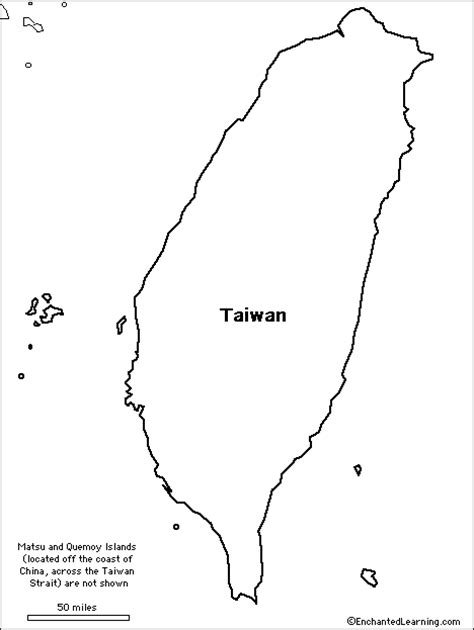 printable map taiwan outline map taiwan enchantedlearning com