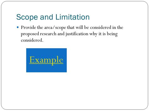 exle of thesis scope and limitation annotated bibliography introduction exles steps to an