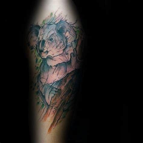 geometric koala tattoo 30 koala tattoo designs for men wild animal ink ideas