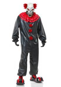 Scary Clown Costumes Evil Skull Clown Mask