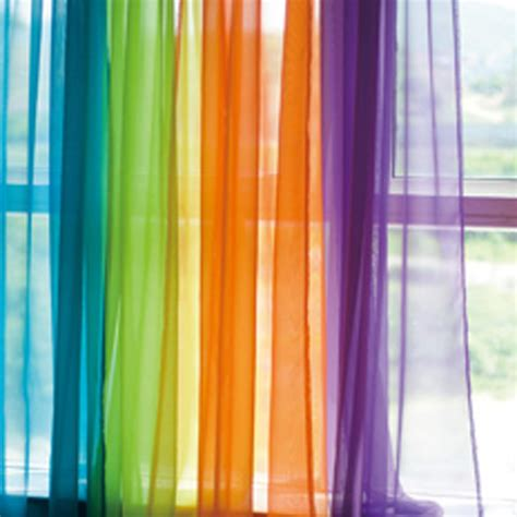 colorful bedroom curtains voile sheer curtain panel