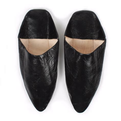 Marrakech Booties pointed s babouche slippers black bohemia wolf badger
