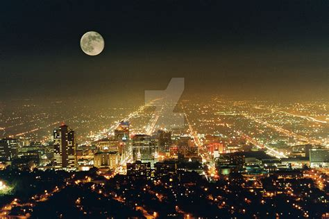 Salt Lake City Night By Dezray6 On Deviantart Lights Salt Lake City