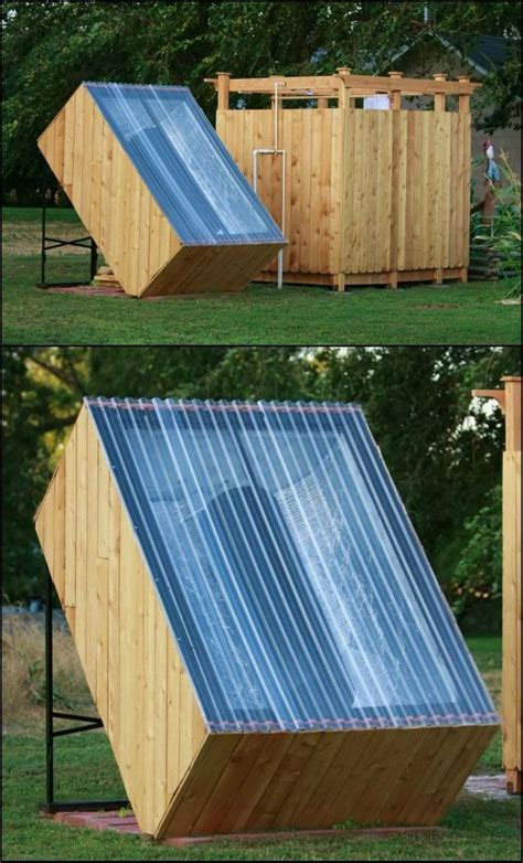 water outdoor shower how to build an outdoor shower with a solar water heater