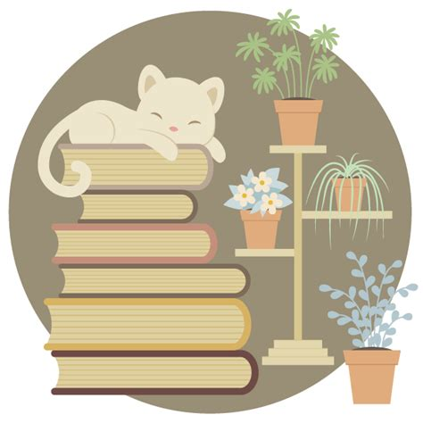 illustrator tutorial book how to create a sleeping cat on a pile of books and indoor