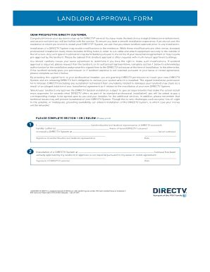 Directv Permission Letter Landlord Landlord Permissions Form Fill Printable