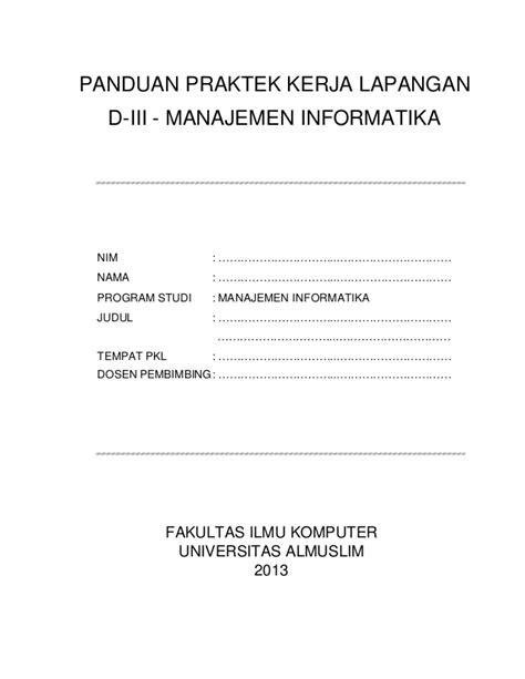 format absen les panduan pkl manajemen informatika tahun 2013