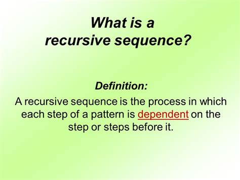 pattern sequence meaning warm up finding terms of a sequence ppt video online