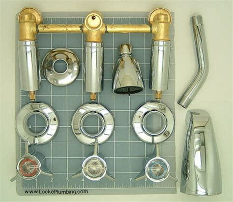 Replacement Parts For Kitchen Faucets by Three Handle Tub Shower Faucet Sets Three Affordable