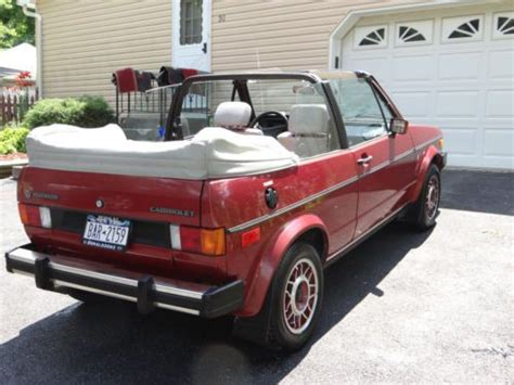 how cars work for dummies 1985 volkswagen cabriolet security system sell used 1985 volkswagen cabriolet convertible in monroe new york united states