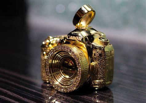 bling   gold canon  mark iii pendant